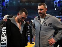 Wladimir Klitschko's with his brother Vitali