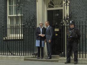 Theresa May and Donald Tusk meet at Downing Street for Brexit talks