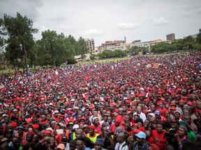 Police estimated the number of demonstrators at 30,000, but organisers claimed it was more