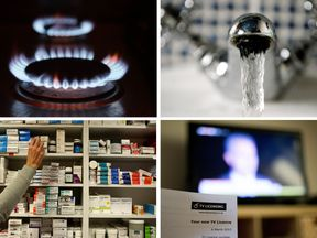 The cost of heating, water, prescriptions and TV licences rises from 1 April 2017