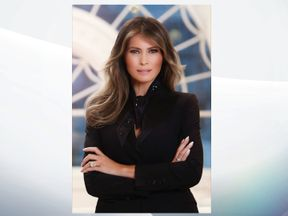 Melania Trump in her first official White House portrait. Pic: White House