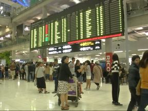 Thousands of tourists were left stranded at Suvarnnabhumi Airport in Bangkok
