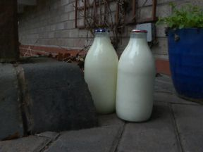 Less than 4% of households get their milk delivered in glass bottles
