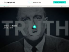 Wikitribune's website