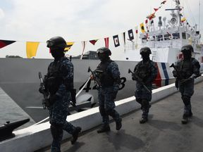 The coast guard has been mounting operations against the group in its Sulu province heartland