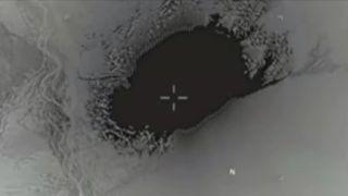 Aerial view of MOAB blast
