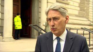 Chancellor Philip Hammond responds to GDP figures