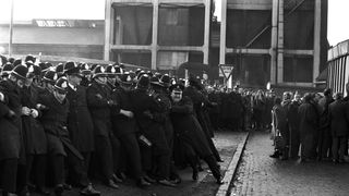 General scenes at the Saltley Coke Depot in Birmingham, as the miners attempt to close the depot down during their strike