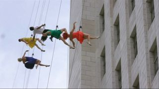 Abseiling dancers help mark La La Land Day in LA