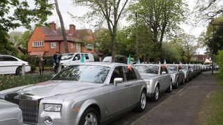 The fleet of Rolls Royces