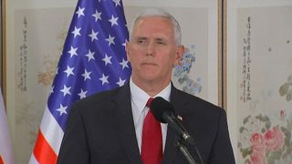 Mike Pence says of North Korea that the time of strategic patience is over