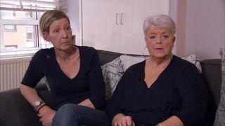 Amanda Rhodes and Carol Mardon say they can't forvie Les Rhodes' killer