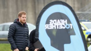 "Prince Harry says as a result of talking to a ""shrink"" he is in a ""good place now""."