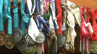 Medals won by Dale Lyons from his marathon activities