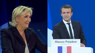 Emmanuel Marcon and Marine Le Pen set to go head to head