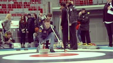 Curling with Kvyat