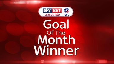 League Two GOTM winner - Carey