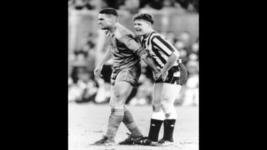 Vinnie Jones on man marking Gazza