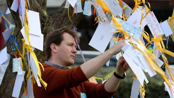 Nazanin's husband Richard Ratcliffe addressed supporters