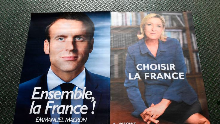 French voters will choose between Emmanuel Macron and Marine Le Pen
