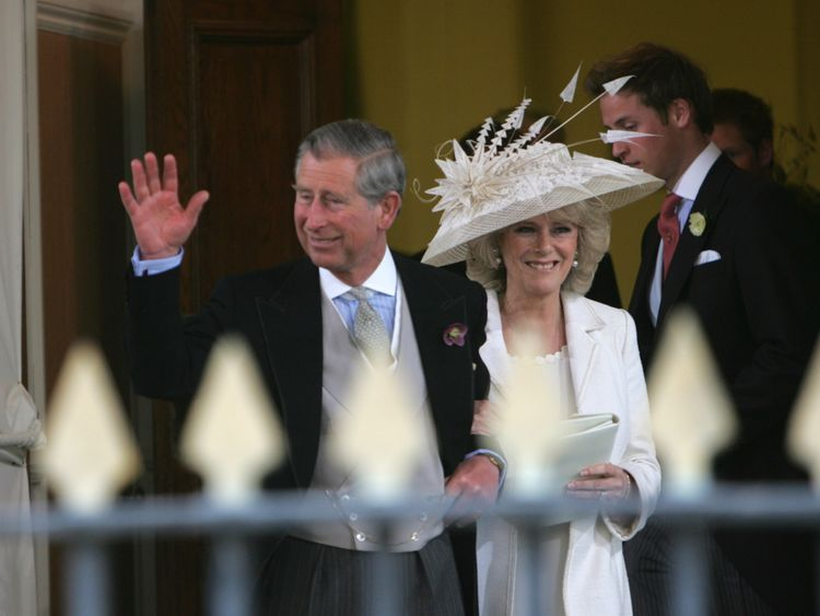 Prince Charles and the Duchess of Cornwall on their wedding day in 2005