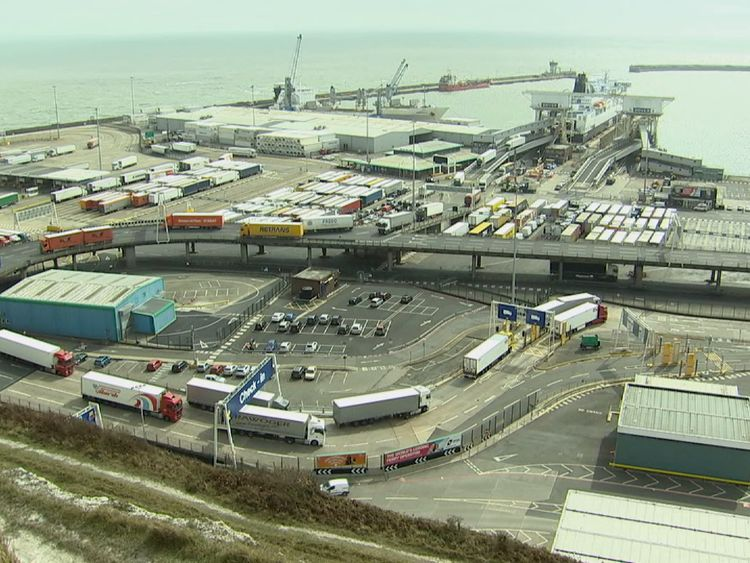 The Port of Dover can handle up to 100 miles' worth of traffic on a busy day