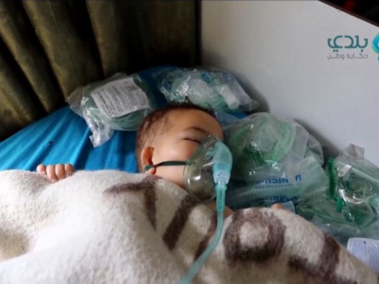 Dozens of children were hurt in the suspected gas attack