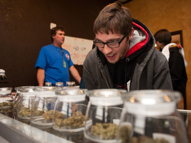 Marijuana on sale at a store in Denver, Colorado