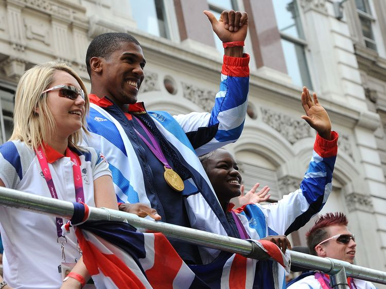 Joshua won a gold medal at the 2012 London Olympics