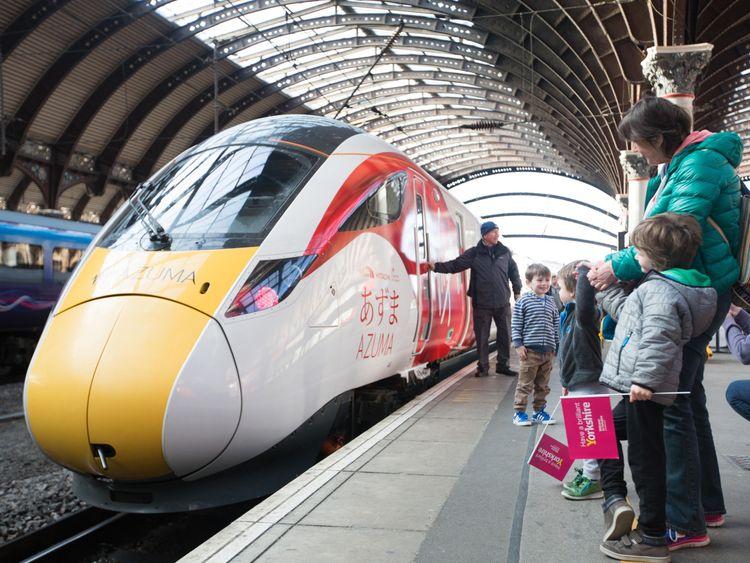 Virgin Trains' new Azuma at York Station
