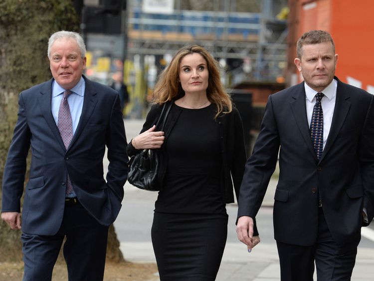 Gordon Ramsay's father-in-law Chris Hutchenson with daughter Orlanda and son Adam arriving at Westminster Magistrates' Court