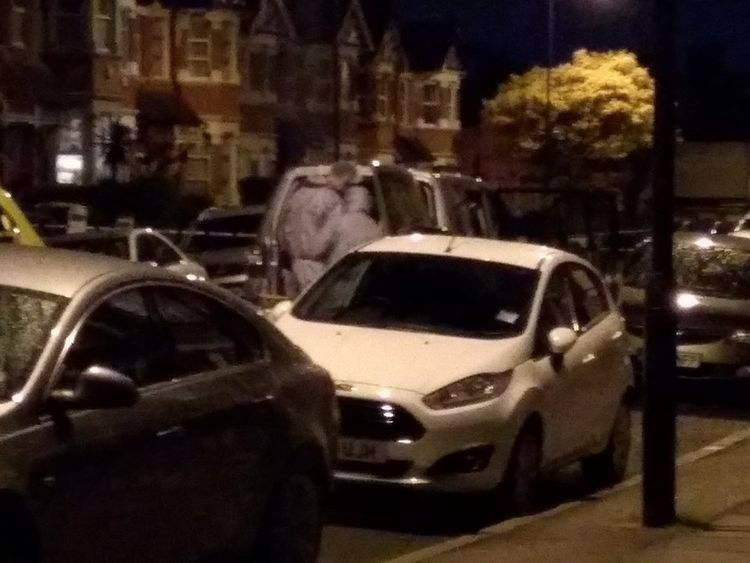 During an ongoing counter terrorism investigation this evening, Thursday, 27 April, armed officers entered an address  in Harlesden Road, NW10. Pic: Jakub Krupa