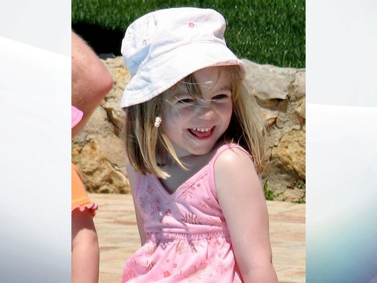 Madeleine McCann on May 3 - the day she went missing from the family's holiday apartment in Praia da Luz, Portugal