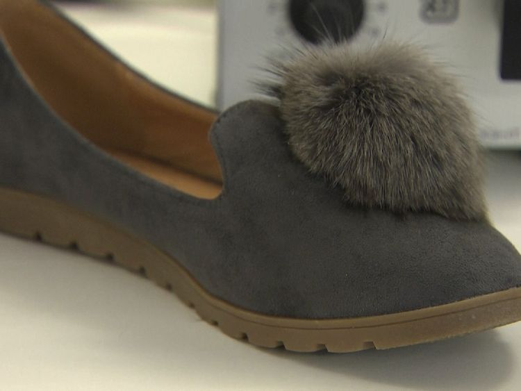 These shoes were found to have been made with fur consistent with raccoon dog