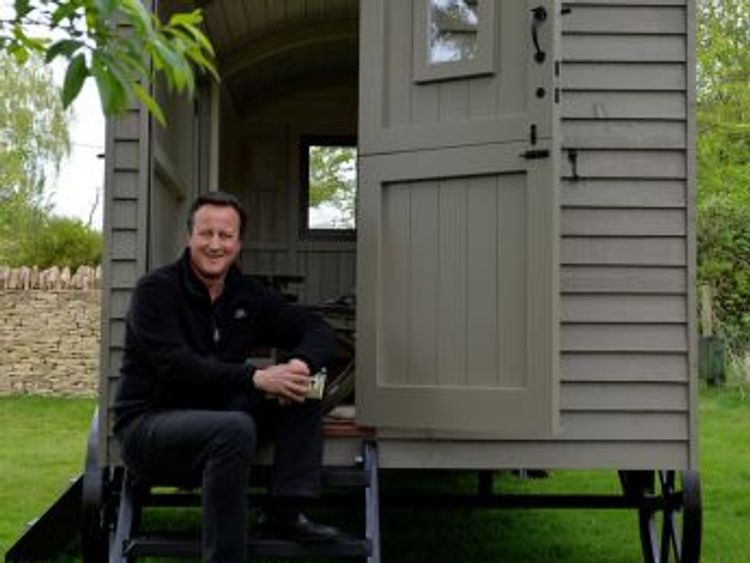 David Cameron had wanted the hut to write a book