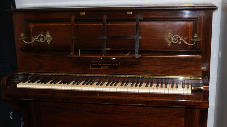 The collection of gold coins were found in this piano.