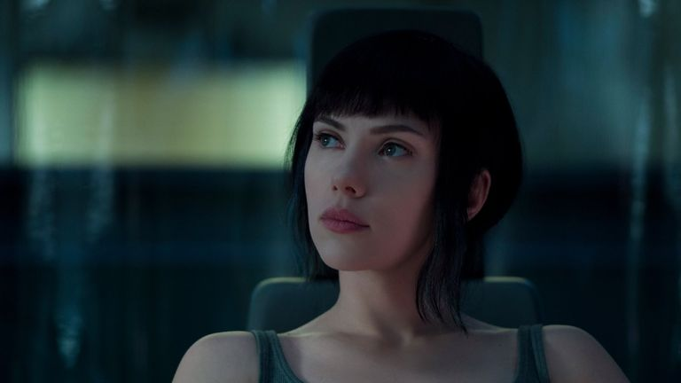 Johansson as Major Kusanagi