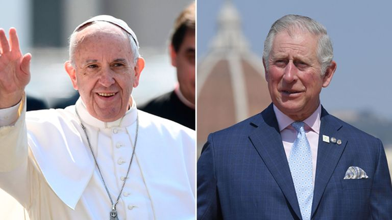Pope Francis and Prince Charles