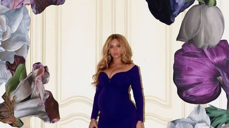 Queen Bey's flowered photos have left fans looking for a hidden message