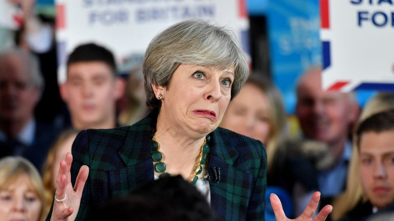 Theresa May could stumble