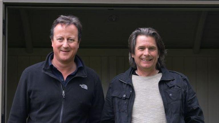 Mr Cameron with Paul Bennett