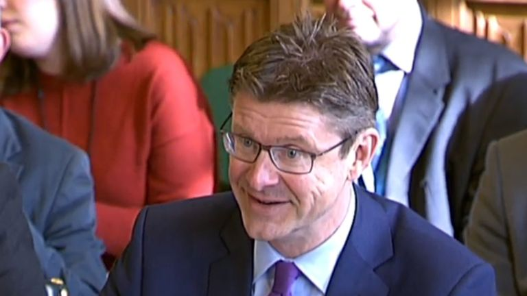 Business Secretary Greg Clark appears at a hearing on energy prices and Brexit at the Business, Energy and Industrial Strategy Select Committee at the House of Commons, London.