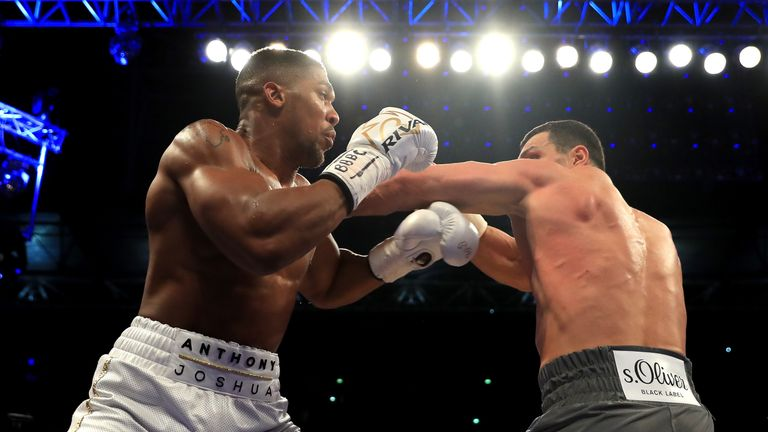 Anthony Joshua beats Wladimir Klitschko