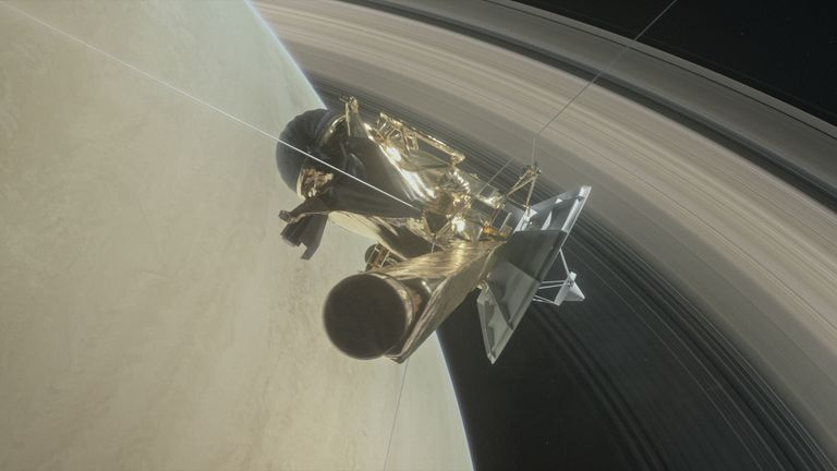 Cassini will eventually make 22 orbits between the rings
