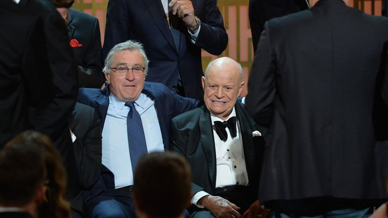 Actor Robert De Niro and Don Rickles attend Spike TV's 'Don Rickles: One Night Only' on May 6, 2014