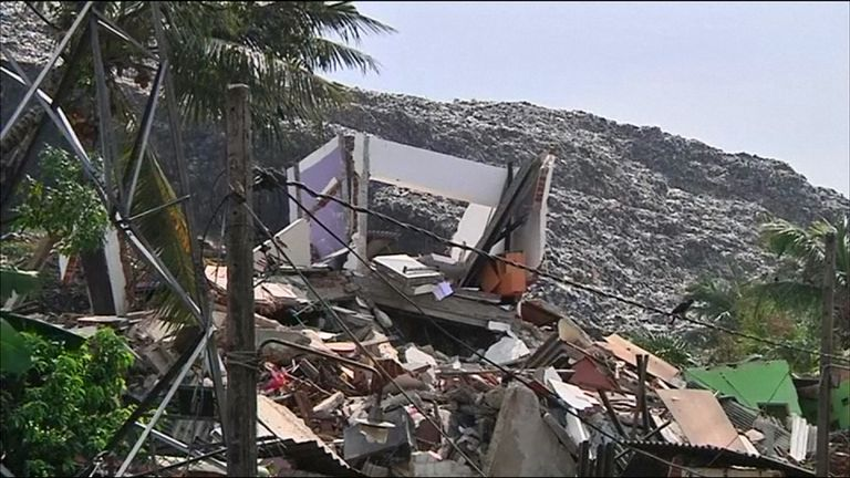 The government of Sri Lanka had been considering removing the dump