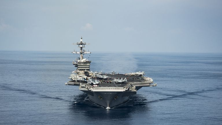 The Pentagon sent the 97,000-ton USS Carl Vinson, a guided-missile cruiser and two destroyers after the latest missile test by North Korea