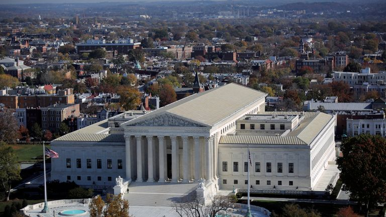 The US Supreme Court building in Washington DC