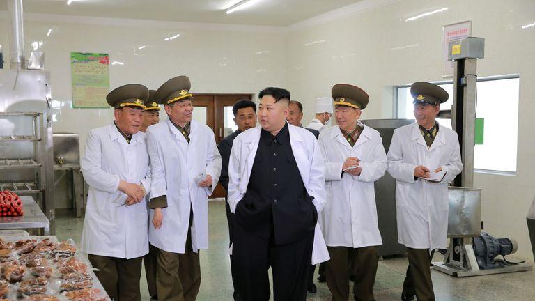 North Korean Leader Kim Jong Un visits Thaechon Pig Farm