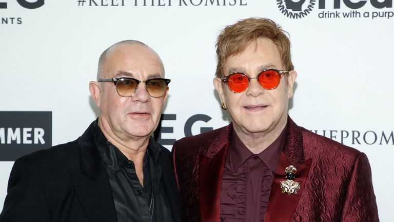Sir Elton John at his 70th birthday party